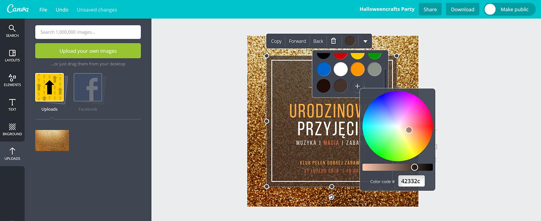 jak stworzyć darmowy projekt zaproszenia bez programów graficznych w aplikacji Canva