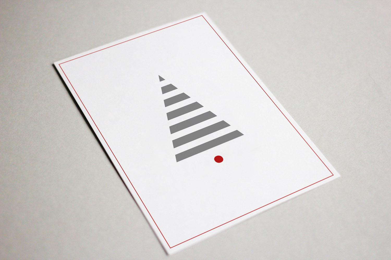 minimalistyczne kartki świąteczne