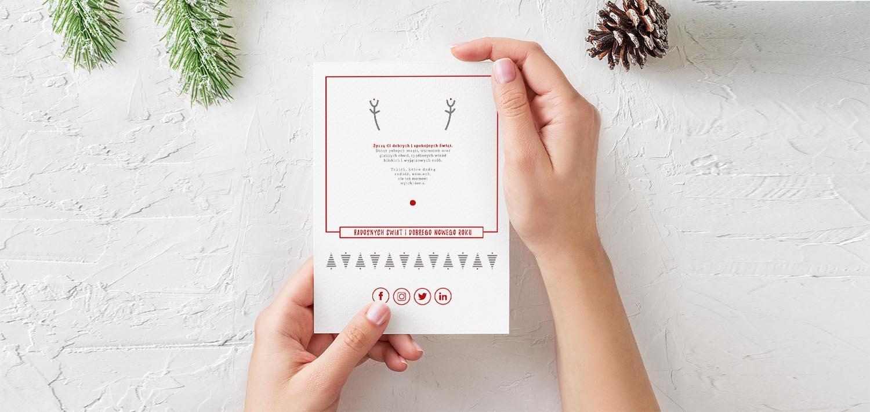 Minimalistyczna kartka świąteczna