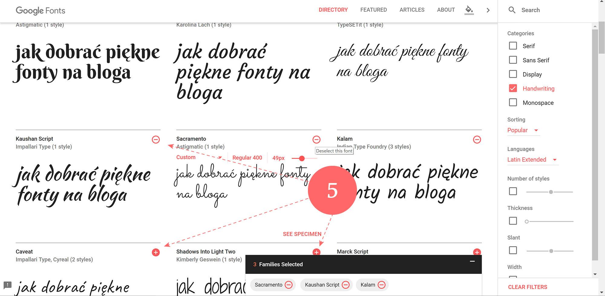 Jak korzystać z Google fonts - pobieranie plików