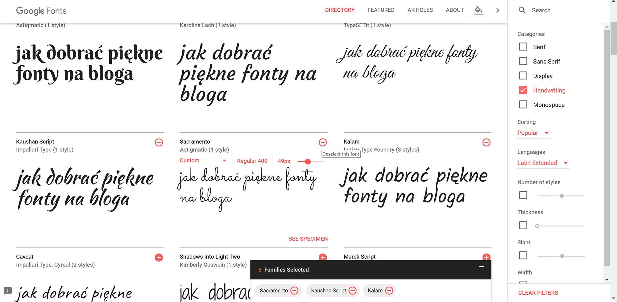 Jak korzystać z Google fonts - pobieranie czcionek na komputer