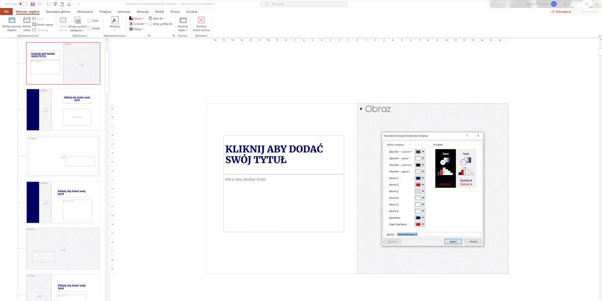 Automatyzacja czyli jak szybko zmienić kolory w całej prezentacji